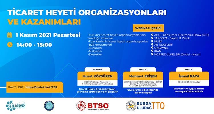 Ticaret Heyeti Organizasyonu ve Kazanımları Webinarı