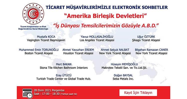 Ticaret Müşavirlerimizle Elektronik Sohbetler - ABD