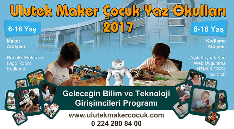 Bu yıl ULUTEK' te ilk defa çocuklarımız için kapsamlı yazılım ve kodlama eğitimleri verilecek...