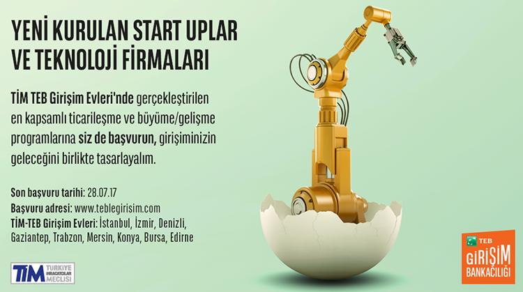 TİM TEB GİRİŞİM EVLERİ 2017 /2 .DÖNEM BAŞVURULARI BAŞLADI!