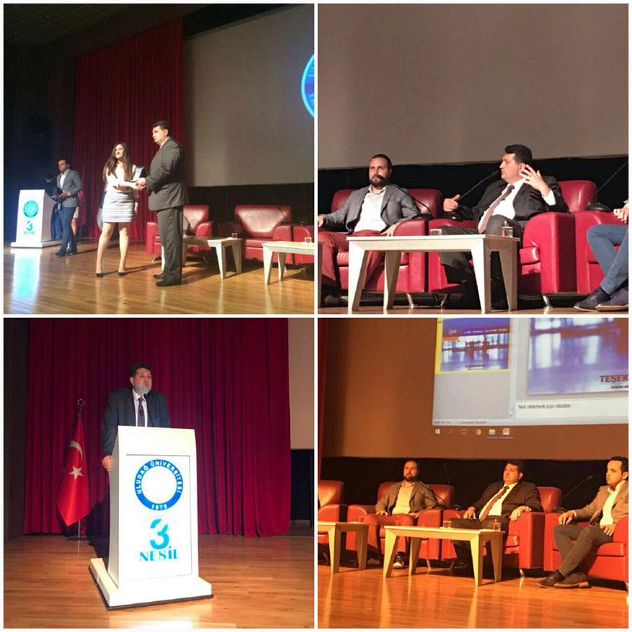 Uludağ Üniversitesi Ekonomi Topluluğu'nun düzenlediği Girişimcilik ve Teknoparklar paneline katıldık