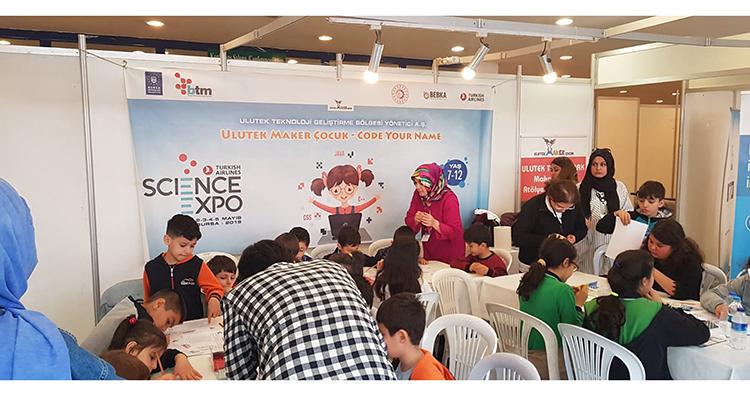 Ulutek Maker Çocuk Science Expo'da yerini aldı